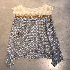Anthropologie top with ultimate detailing